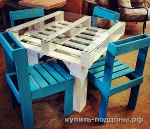 Стол из поддонов