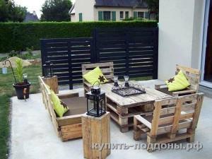 садовая мебель для дачи из поддонов
