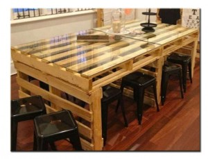 Мебель для кухни из поддонов