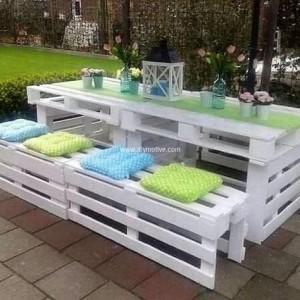 набор уличной мебели из поддонов